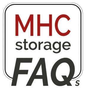 MHC Storage Frequently Asked Questions